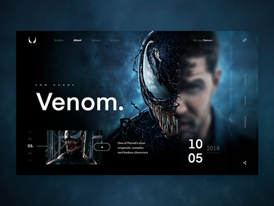Venom - Screen concept screen website design venom marvel ux ui web