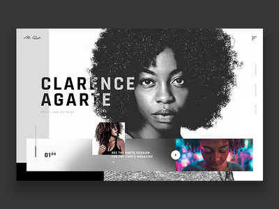 Photographer - Website Concept actress models afro woman white black photographer ux ui design web