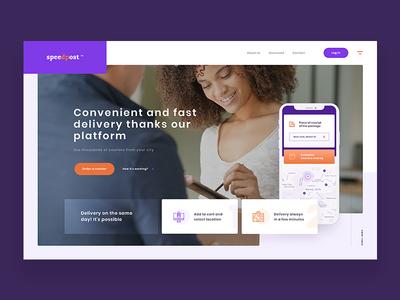 SpeedPost - Website Concept