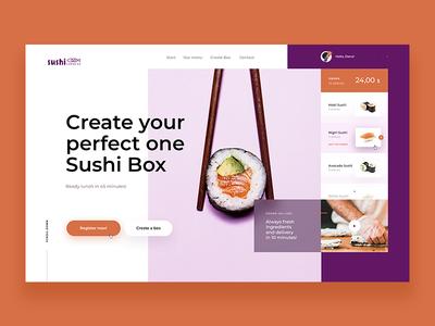 Sushi Box - Website Concept
