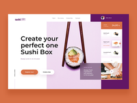 Sushi Box - Website Concept
