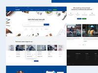 8a4f6be2b9 ... Website Concept  Sumpli - job and shifts platform.