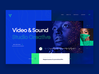 Video & Sound Studio - design concept studio sound video website design concept webdesign ux web ui