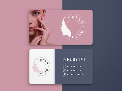 Fresh Glow | Business Card Design | Graphic Design