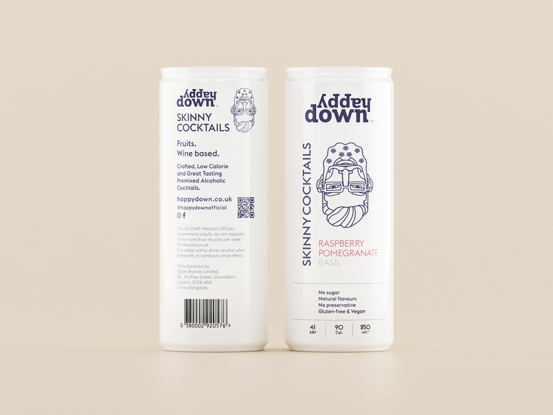 Cocktail Packaging Design Concept alu can mockup light white premium minimal clean eolinart label design packaging cocktails