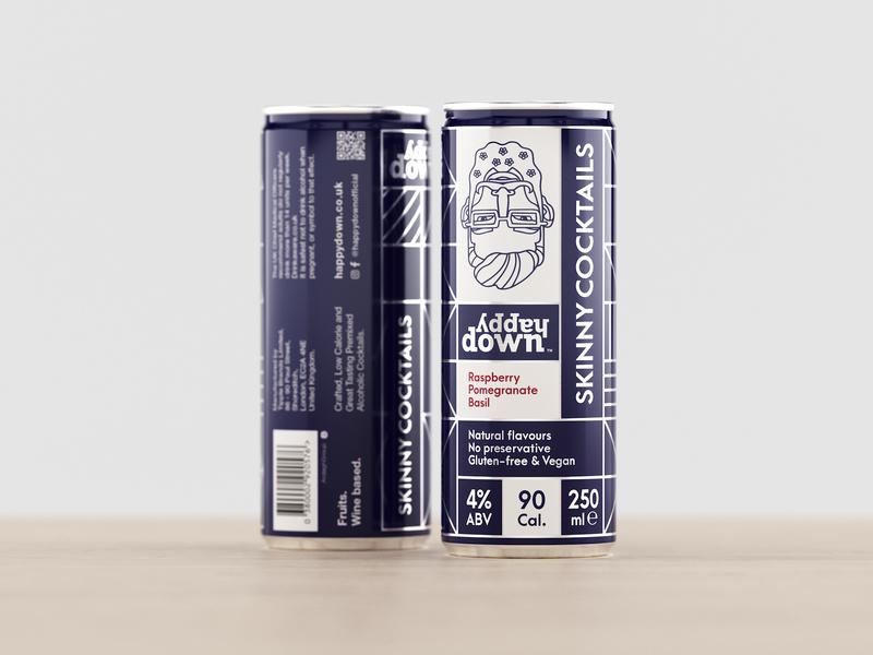 Skinny Cocktails Label Design Concept beverage packaging eolinart packaging-design mockup can-mockup labels packaging label-design cocktail-label