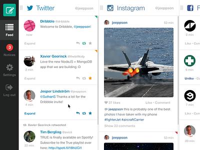 Feedient feedient social network all in one twitter instagram facebook realtime web app web