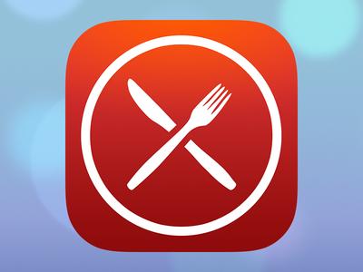 Dagens Växjö UF - iOS icon uf ios icon växjö food cutlery lunch app ios 7