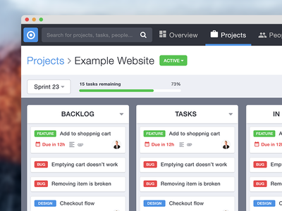 Project management for agencies to-do tasks scrum web management project