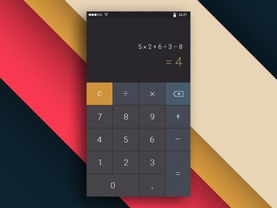 Calculator | Daily UI #004