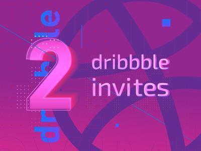 Two dribbble invitates