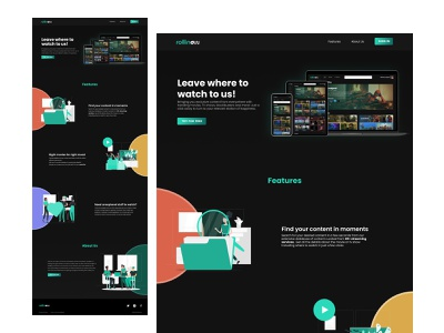 Movie Streaming Website - Landing Page streaming app streaming ui webdesign web website product design landing page ui landing page movie streaming