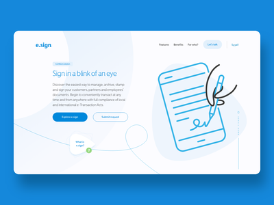 e.sign website landingpagedesign landing page design landing page landing ui xd website design webdesign web graphic  design website adobe xd ui design