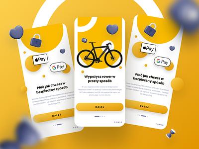 Rental bike app scooter onboarding rental app graphic design ui design journey explore ios design rent clean mobile app navigation map figma bicycle bike ride ux ui