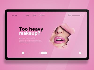 Pink landing page