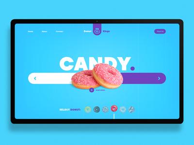 Donut landing page