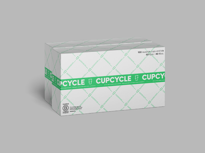 Cupcycle Box Branding logo package design concept pattern typography logos design clean brand packaging colorful vector branding art