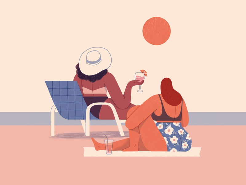 Beach Bums design illustration