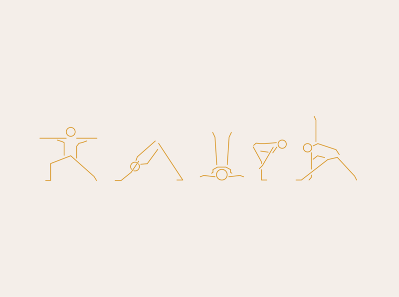 Roam Retreats yoga vector typography symbol sports retreats logo iconography graphic design design branding brand