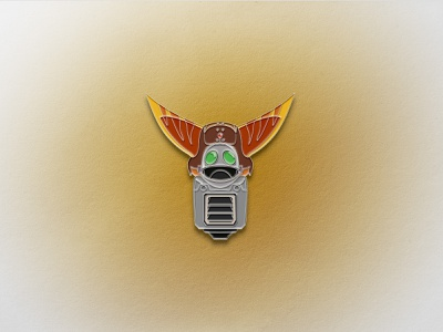 Ratchet & Clank Enamel Pin design enamel pin pins enamelpin sony ps5 temper tantrum vector geometric icons iconography pin clank ratchet playstation videogames
