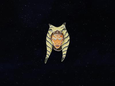 Ahsoka Tano Enamel Pin icon star wars enamel pin geometric vector iconopgraphy enamel pins pin the mandalorian mandalorian starwars ahsoka ahsoka tano lines disney mando temper tantrum