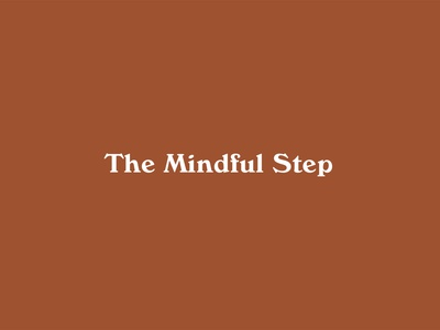 The Mindful Step logos minimalistic modern logo design logotype stationery identity sustainability branding and identity branding typography logo design vector