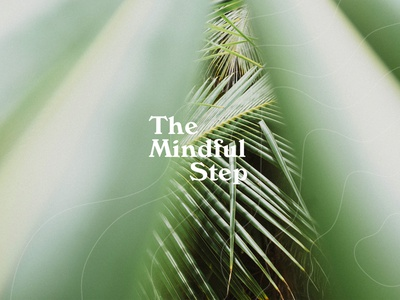 The Mindful Step vector logo design typography branding branding and identity sustainability identity stationery logotype design logo modern minimalistic logos