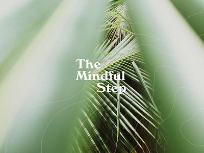 The Mindful Step vector logo design typography branding branding and identity sustainability identity stationery logotype design logo modern minimalistic logos