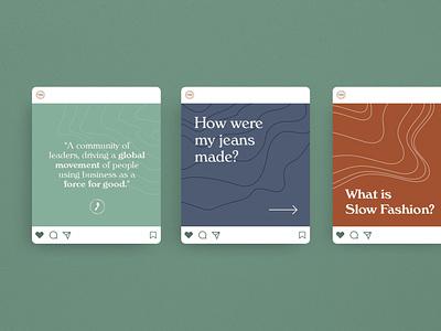 The Mindful Step social media instagram stories vector design logo typography branding branding and identity sustainability identity stationery logotype logo design modern minimalistic logos