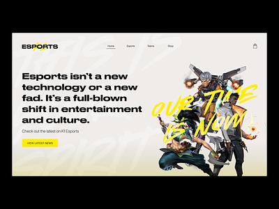 Web design — Esports landing page ui brand identity branding landing page web page web website hero section esports visual identity