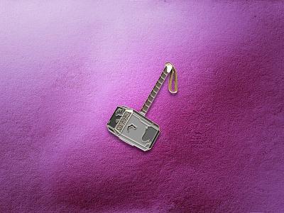 Mjolnir Enamel Pin asgard icon design pins pin vector geometric iconography marvel studios disney marvel comics hammer mjolnir thor what if pin design badge enamel pin marvel