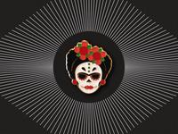 Frida de Los Muertos Pin