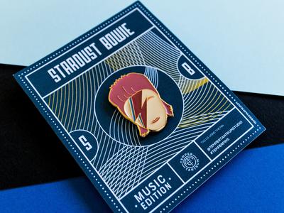 Stardust Bowie - Enamel Pin