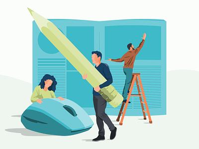 Teamwork Illustration behance team people publishing teamwork procreate illustration bold graphic design dribbble design flat adobe illustrator color simple