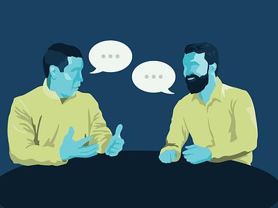 Conversation Illustration avatar talking conversation people instagram behance procreate illustration bold graphic design dribbble design flat adobe illustrator color simple