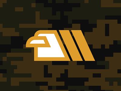 N2 Veterans Mark profile instagram camo behance army eagle military veterans iconography icon logo bold graphic design dribbble design flat adobe illustrator color simple