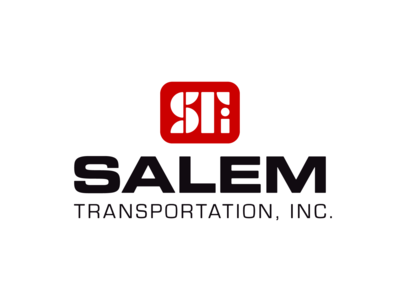 Salem Transportation Logo behance transportation mark red corporate identity typography trucking monogram lettermark wordmark logo bold graphic design dribbble design flat adobe illustrator color simple