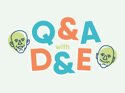 Q&A with D&E retro simple faces bumper logo instagram illustration illustrator avatar iconography icon graphic design flat dribbble design color bold behance adobe