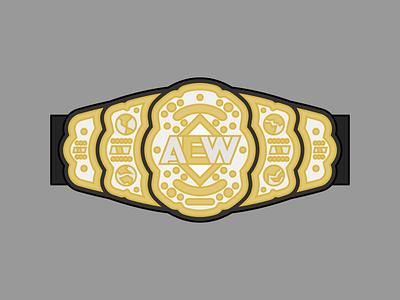AEW World Championship instagram wwe all elite wrestling aew pro wrestling wrestling vector iconography icon illustration logo bold graphic design dribbble design flat adobe illustrator color simple