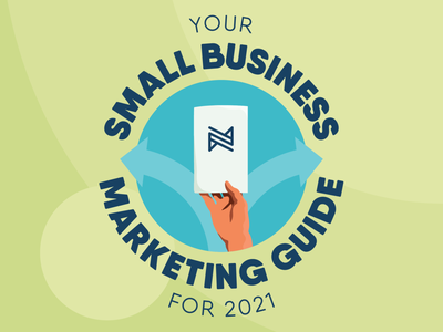 Your Small Business Marketing Guide for 2021 marketing guide guidebook then2company adobe bold branding color behance dribbble flat smallbusiness marketing illustration illustrator blog badge logo procreate simple vector