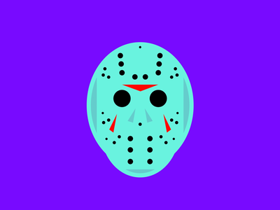 You and your friends are dead. Game over. friday the 13th simplicity simple logo illustrator illustration graphic design flat dribbble design color jason vorhees jason bold adobe