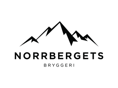 Norrbergets Bryggeri - Logotyp mountain brewery beer logotype logo