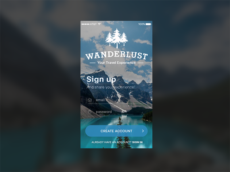 Wanderlust sign up