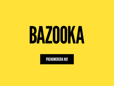 Hej Kompis - Kinetic typography bazooka subscribe sign up newsletter motion typogaphy kinetic type branding animation text animated text after effect
