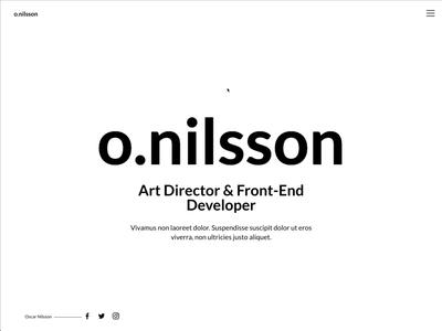 Portfolio website sidescroller web design minimalistic simple clean photography portfolio motion design animation