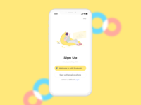 Sign up page of Game/share app