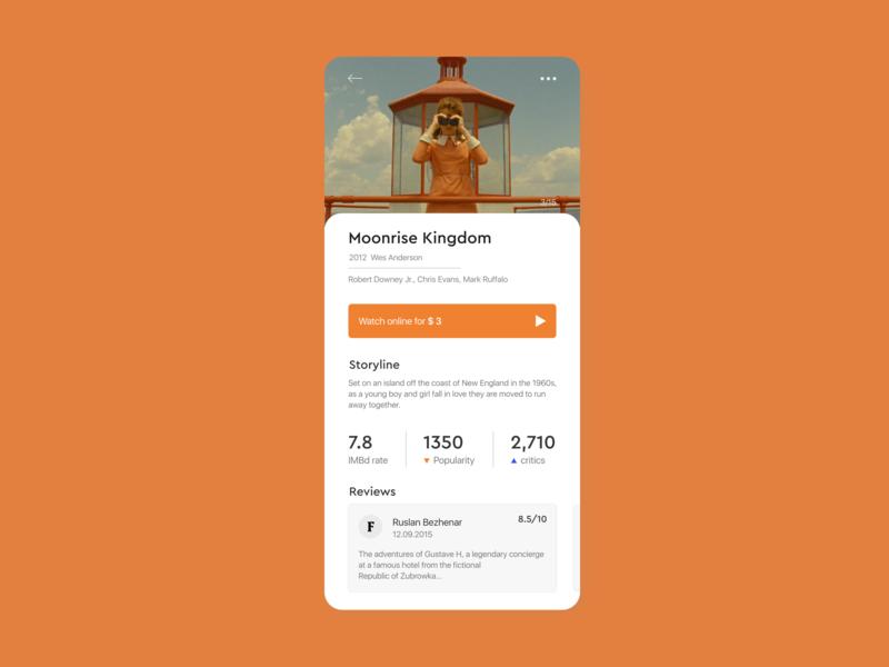 Movie app – concept mobile movie app ios app  design app ui ux minimalism minimal design