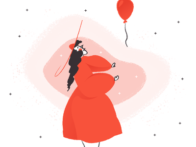Girl with baloon