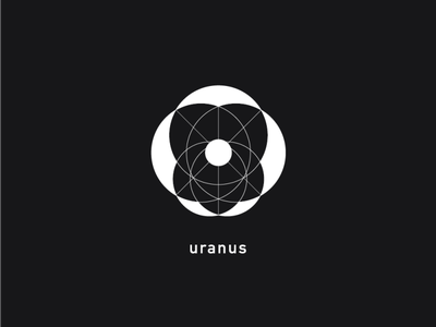 Logo a day 070 - Uranus everydays logo a day logo inspiration icon inspiration logodesign logo icon icon design uranus planets solar system