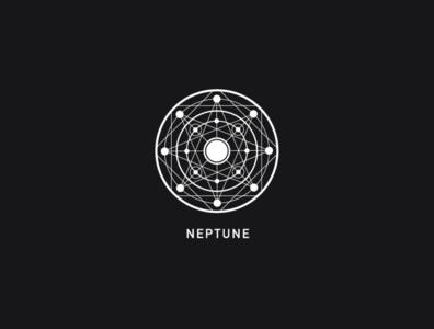 Logo a day 071 - Neptune space neptune planets solar system icon inspiration icon icon design logo inspiration logo design everyday logo a day